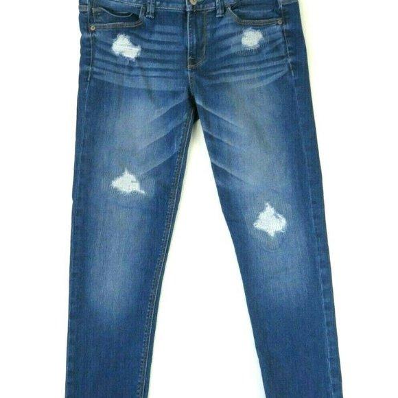 Express Denim - Express Womens Skinny Leg Jeans Blue Medium Wash D